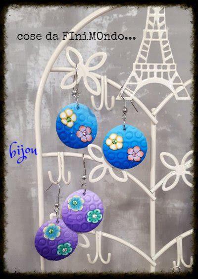 fiori con il fimo orecchini in fimo con fiori gioielli orecchini di