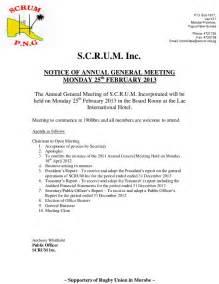 scrum inc 2013 agm notice agenda scrum papua new guinea