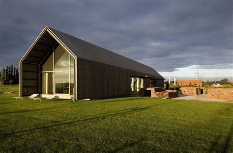 contemporary barn barn house belgium belgian home e architect