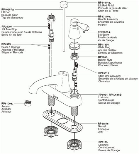 delta faucet repair parts diagram automotive parts diagram images
