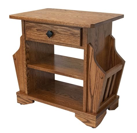 solid oak end magazine cabinet chairside table cabinets matttroy