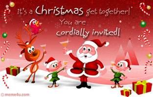 christmas get together invitation card christmas get together invitation ecard