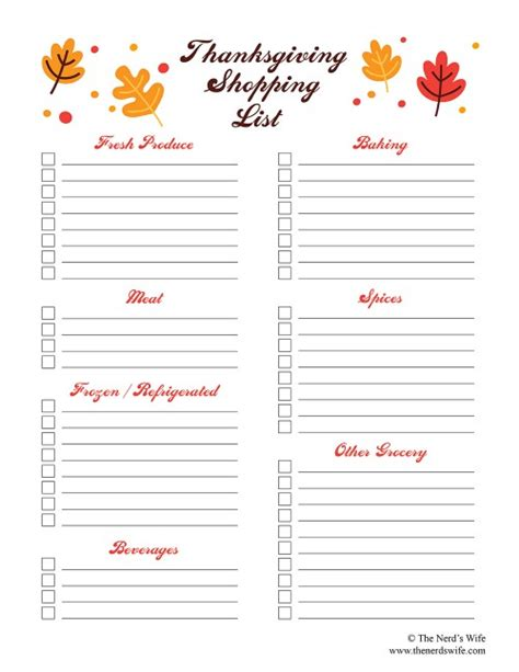 thanksgiving menu planner template 6 best images of thanksgiving printable list