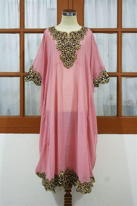 Aretha Tunic by Tunic Caftan Soft Pink Tunic Dress Gold Peanut