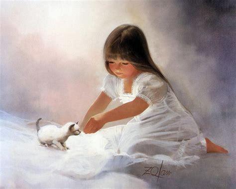 children s painting cat kitten paintings donald zolan