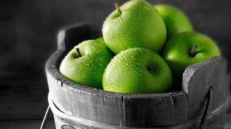 wallpaper apple green green apple fruit fruits vegetables wallpaper