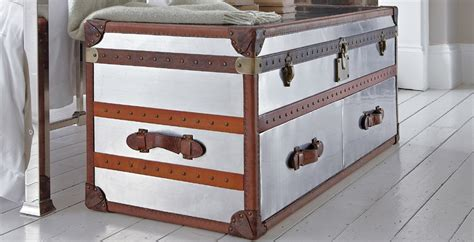 trunk for end of bed chicago end of bed metal trunk feather black