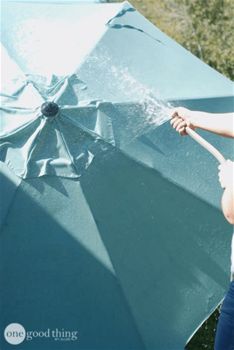 How To Clean Your Patio Umbrella 183 One Good Thing By Jillee How To Clean Patio Umbrella