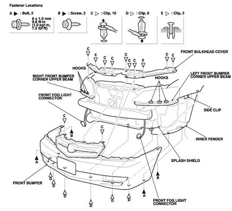 diagram how to install front fender of 2009 bentley azure 2005 acura mdx parts diagram throttle body acura auto wiring diagram