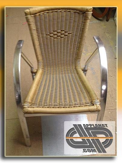 Chaises Bistrot Cannées fauteuils bistrot alu et r 233 sine tress 233 e x22 occasion vendu