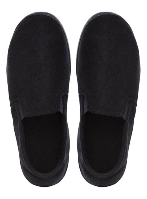 sainsburys slippers mens black memory foam slippers tu clothing