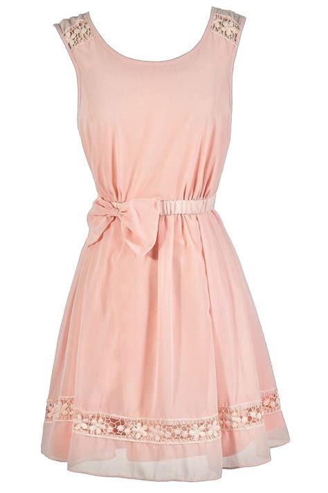 8 Pretty Blush Coloured Clothes by Pink Dress Pink Bow Dress Blush Pink Dress Pale
