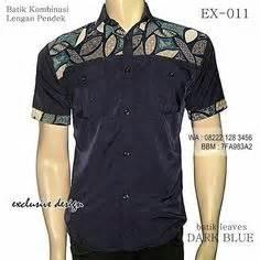 Kemeja Biru Dongker Kemeja Navy Batik seragam batik kombinasi kemeja batik kombinasi modern coklat ex 020 batik kombinasi polos muda