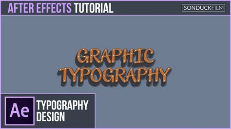 typography tutorial for after effects after effects tutorial advanced typography design motion