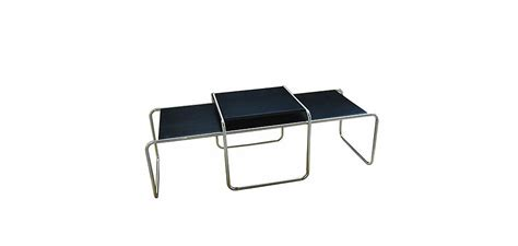 Marcel Breuer Coffee Table Laccio Coffee Table Wood And Steel Marcel Breuer Style