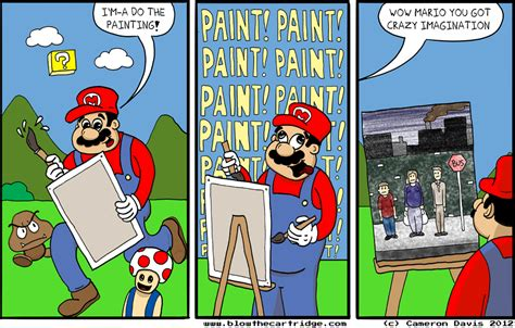 mario painting mario paint the cartridge