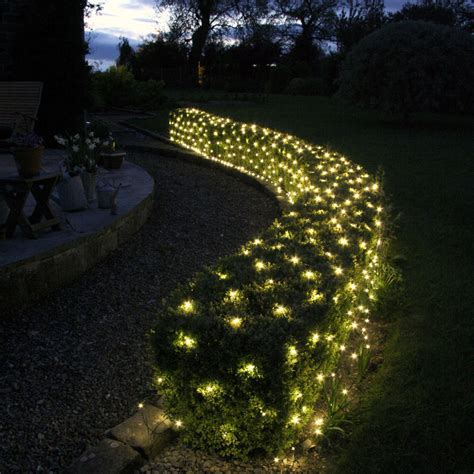 140 Led Warm White Low Voltage Net Light 2m X 2m Lights For Garden