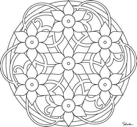 free coloring pages of mandala spring