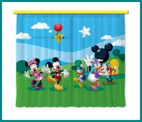 tende colorate per camerette tende per camerette per bambini disney mickey mouse