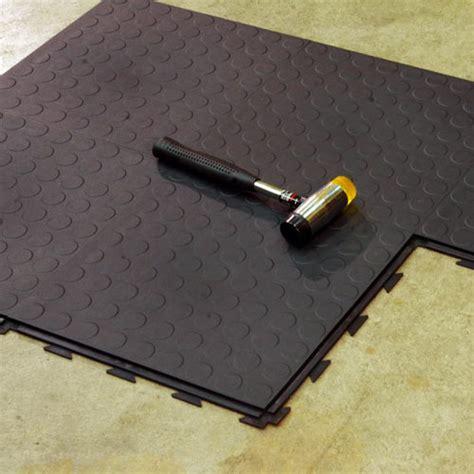 Warehouse Floor Tile, HiddenLock Coin Floor Tile Gray
