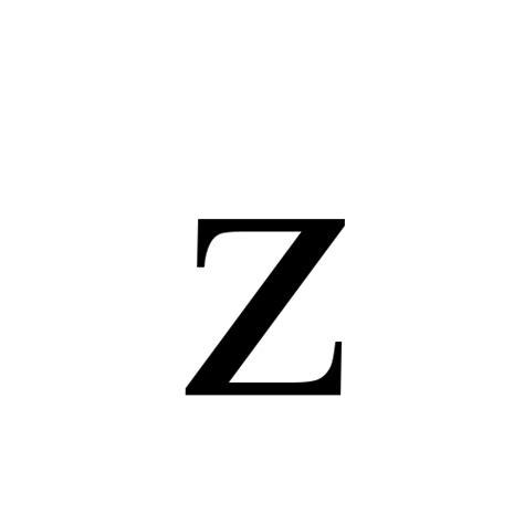 Letter Z Original Z Small Letter Z Times New Regular Graphemica