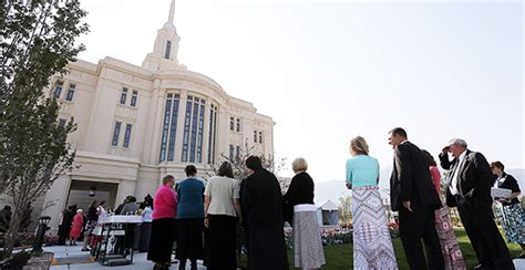 lds temple open house payson utah temple open house begins church news and events
