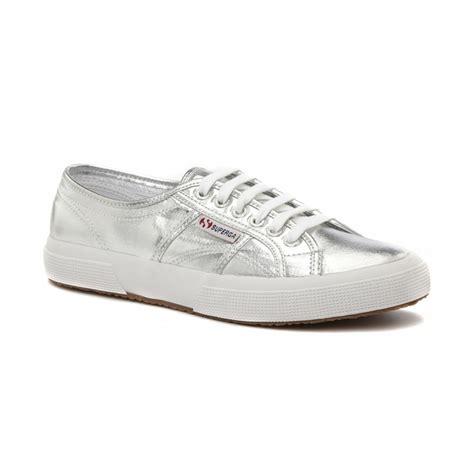 classic silver canvas trainer gs002hg0u womens footwear