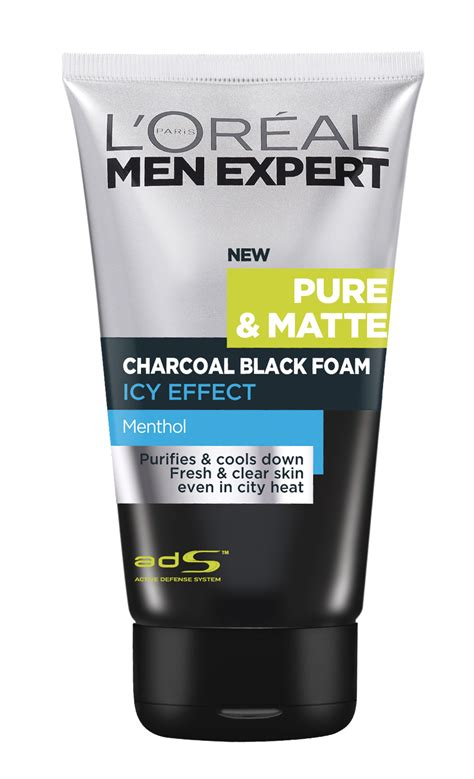 Krim Mata L Oreal grooming review charcoal black foam icy effect and charcoal black scrub by l or 233 al da