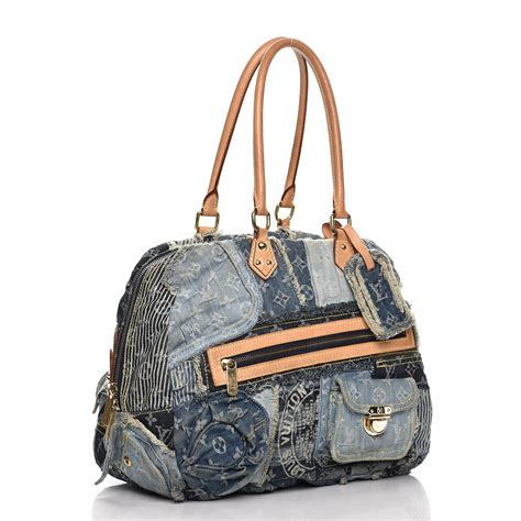 Louis Vuitton Patchwork - louis vuitton denim patchwork bowly blue 229102