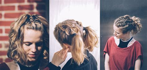 braids that lead into a ponytail 3 ways to braid short hair
