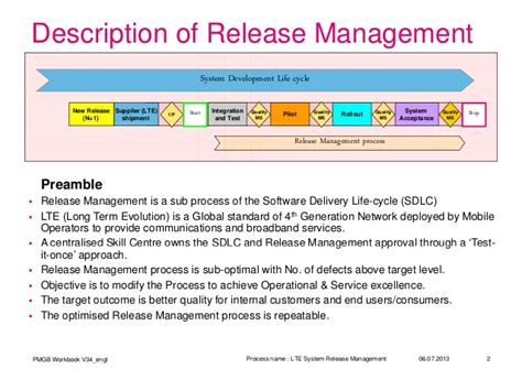 software release management plan template 6 sigma lte release management process improvement