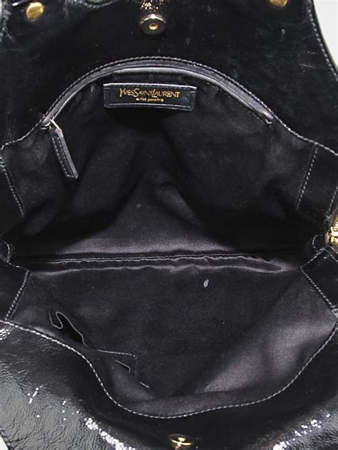 Yves Laurent Tribute Patent Bag by Yves Laurent Black Patent Leather Small Tribute Bag