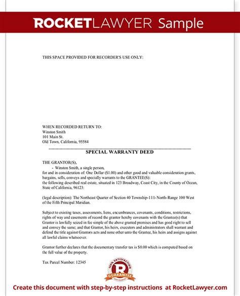 special warranty deed form limited warranty deed with