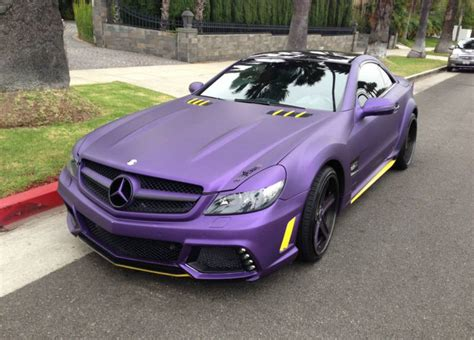 sl55 amg for sale l a lakers inspired mercedes sl55 amg for sale gtspirit