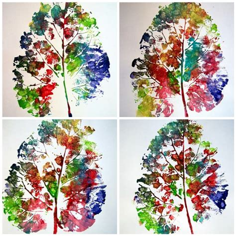 preschool painting with leaves 41 fall leaf crafts your kids will love momtastic