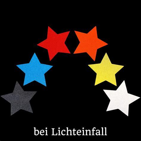 Reflektor Aufkleber Schwarz by Reflektor Sterne Aufkleber Set