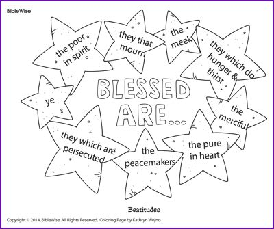 8 beatitudes coloring sheet coloring pages