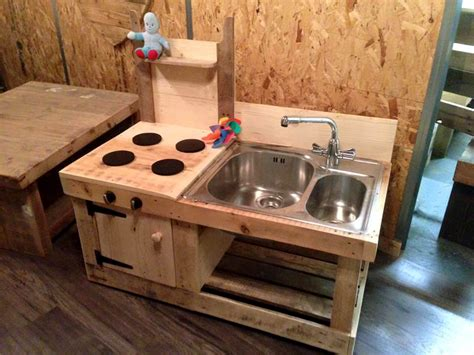 Kitchen Cabinet Layout Plans pallet mud kitchen keeping kids busy over the summer