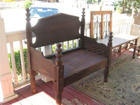 Bench Made From Headboard And Footboard by Bench Made Out Of Headboard And Footboard No