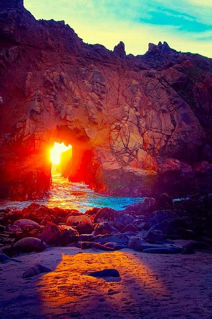 romancing the sur reflections on in big sur books the stunning light at keyhole arch pfeiffer