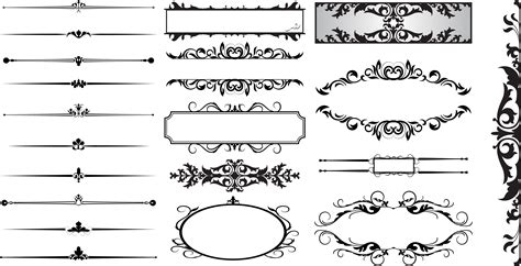 Free Clip Dividers Decorative by 15 Line Dividers Vector Images Free Vector Decorative