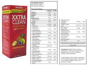 Xxtra Clean Detox Ingredients detoxify xxtra clean 20 fl oz soccer equipment and gear