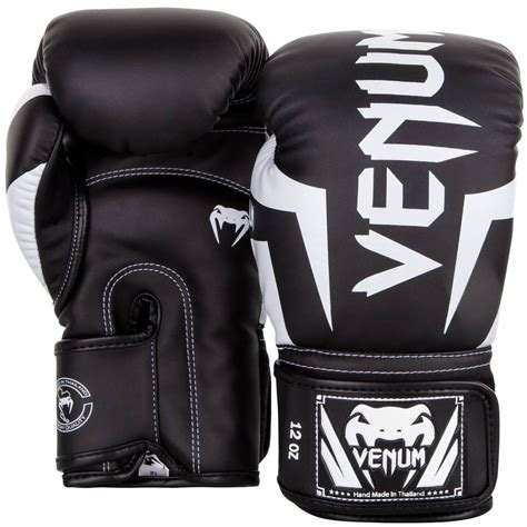 100 Leather Sarung Tinju Venum Glove Size 10 12 14 Oz 1 venum elite boxing gloves black white kickboxing fightwear shop europe