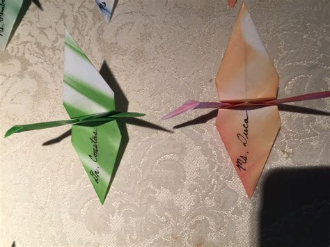 Origami Place Card - wedding origami place cards albany wedding dj sweet 16