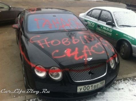 bentley custom paint bentley continental gt coupe falls prey to spray paint vandal
