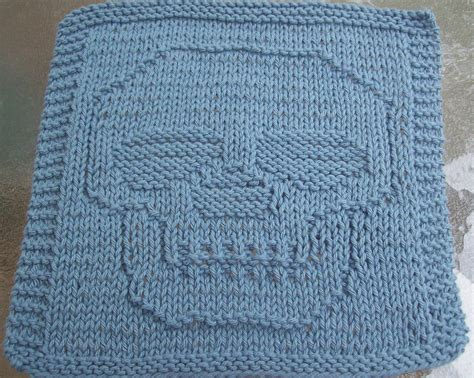 knitted dishcloth patterns free digknitty designs just a skull knit dishcloth pattern