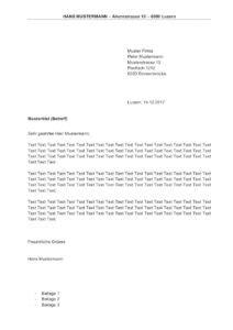 Muster Vorsorgeauftrag Schweiz Briefvorlage Schweiz Sichtfenster Links Oder Rechts Muster Vorlage Ch