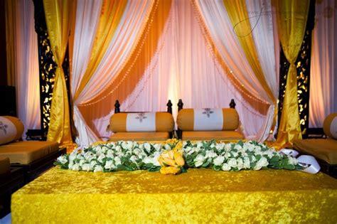 bangladeshi home decoration gaye holud stage design wedding snaps