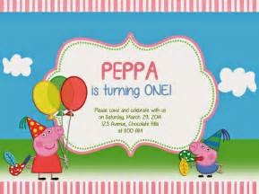 peppa pig birthday invitations cloveranddot