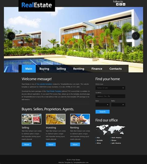 templates for website with slider free website template for real estate with justslider